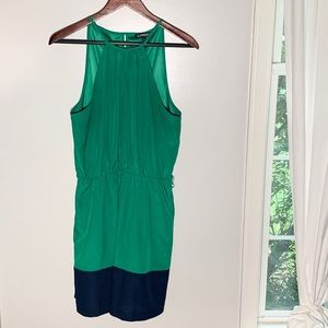 Express | Green & Navy Sleeveless Dress Sz L